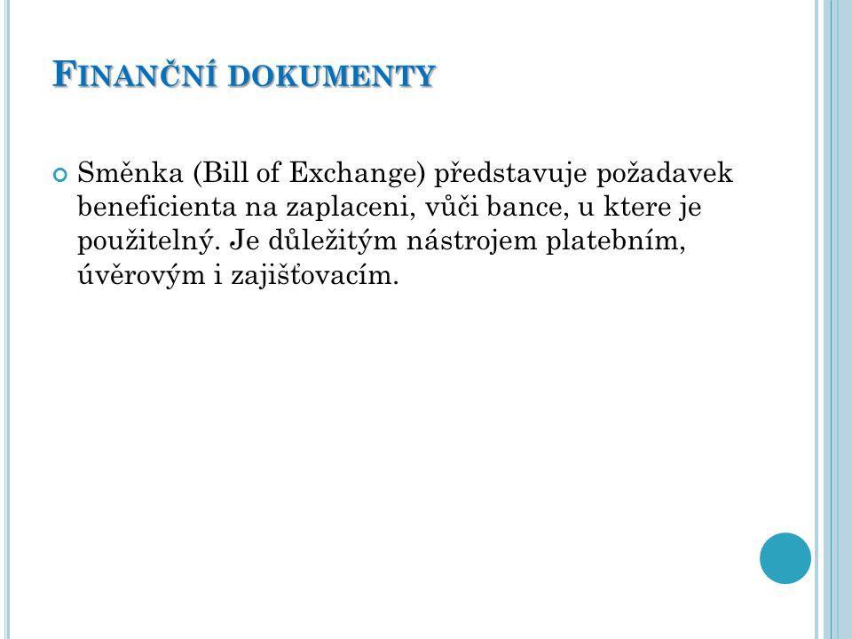 Finanční dokumenty