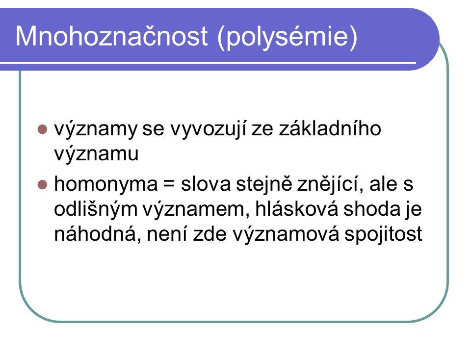Mnohoznačnost (polysémie)