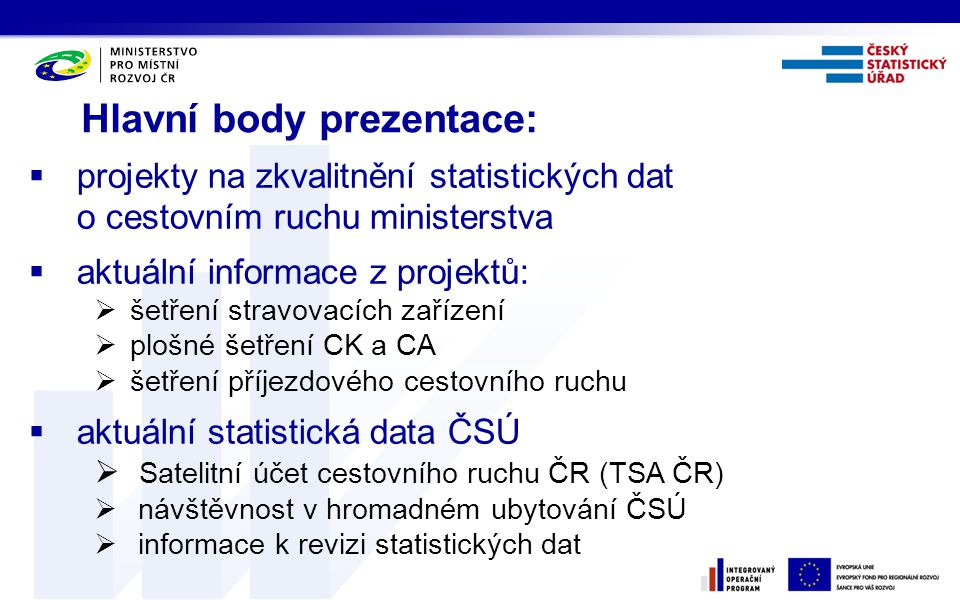 Hlavní body prezentace: