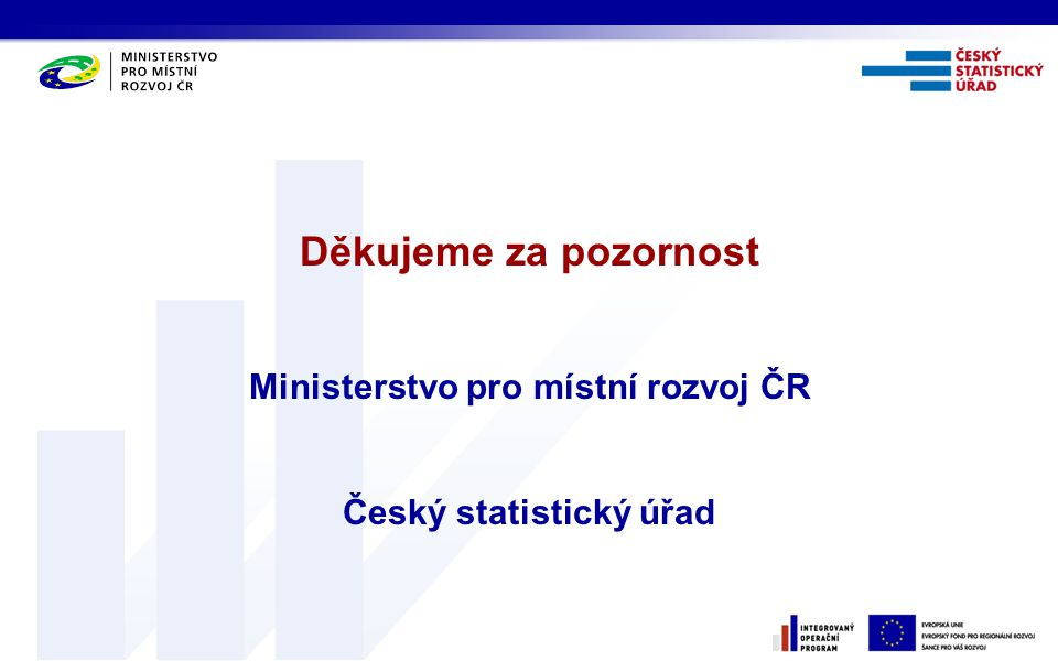 Ministerstvo pro místní rozvoj ČR Český statistický úřad