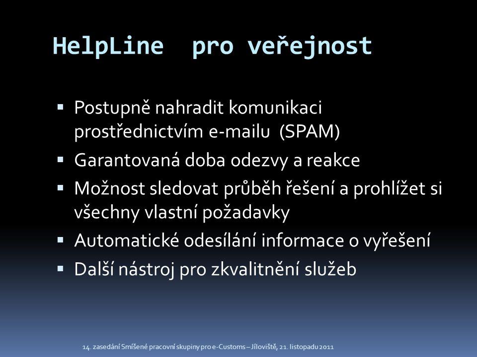 HelpLine pro veřejnost