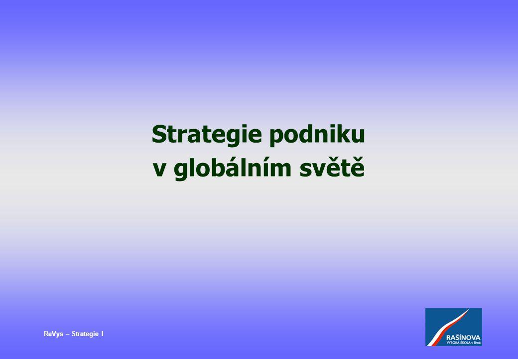 Strategie podniku v globálním světě