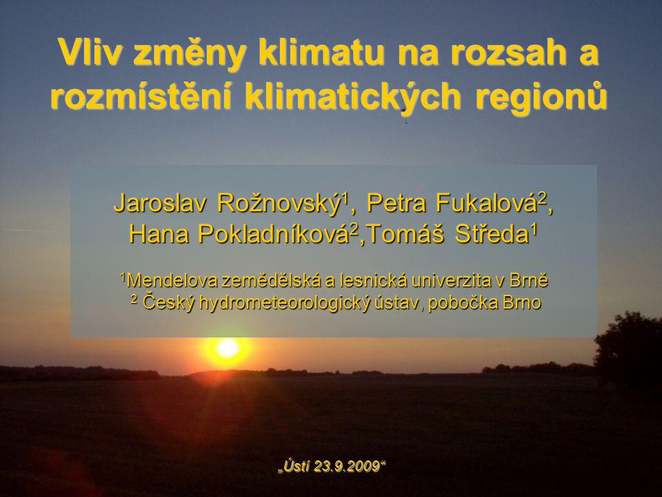 Vliv změny klimatu na rozsah a rozmístění klimatických regionů