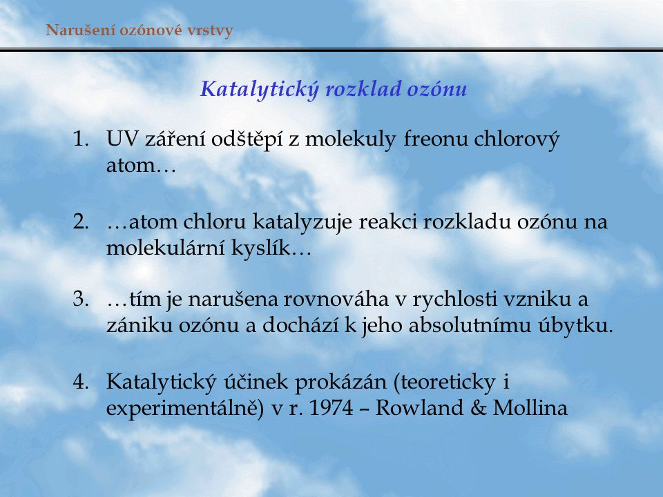 Katalytický rozklad ozónu
