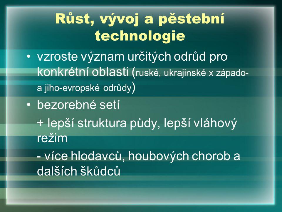 Růst, vývoj a pěstební technologie