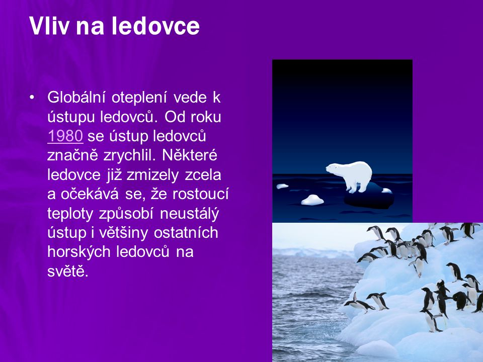 Vliv na ledovce