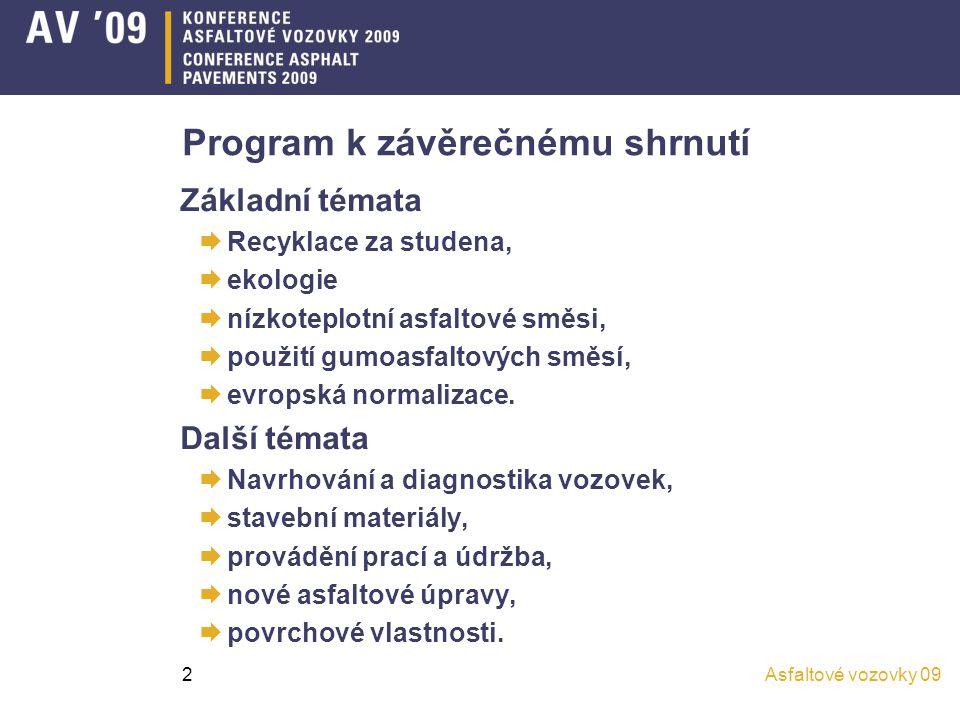 Program k závěrečnému shrnutí