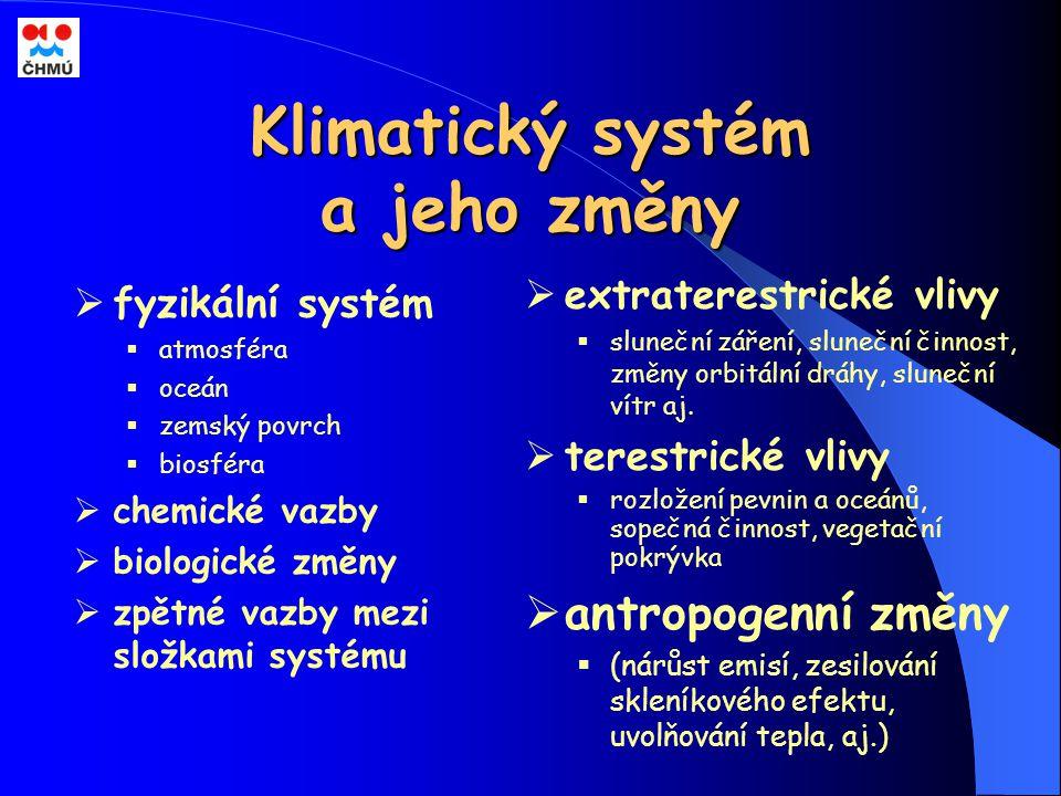 Klimatický systém a jeho změny