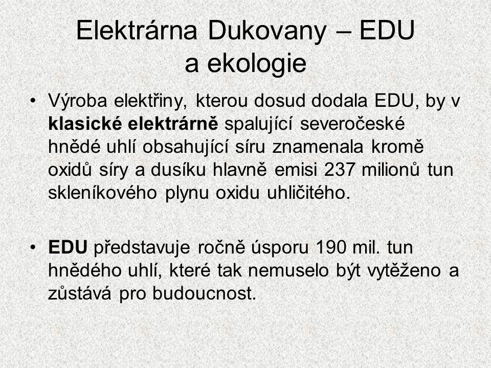 Elektrárna Dukovany – EDU a ekologie