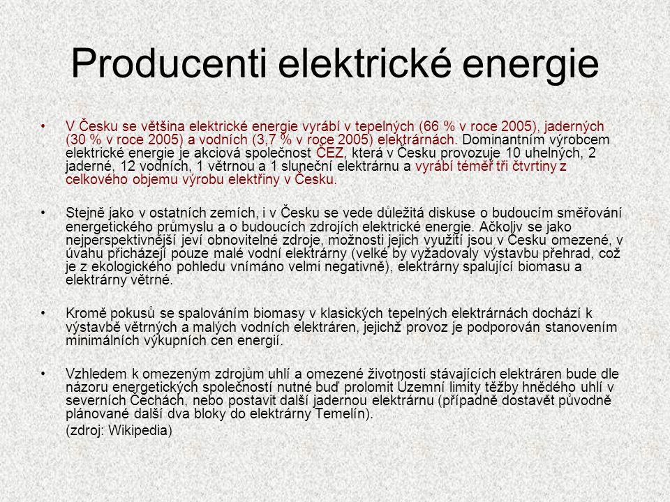 Producenti elektrické energie