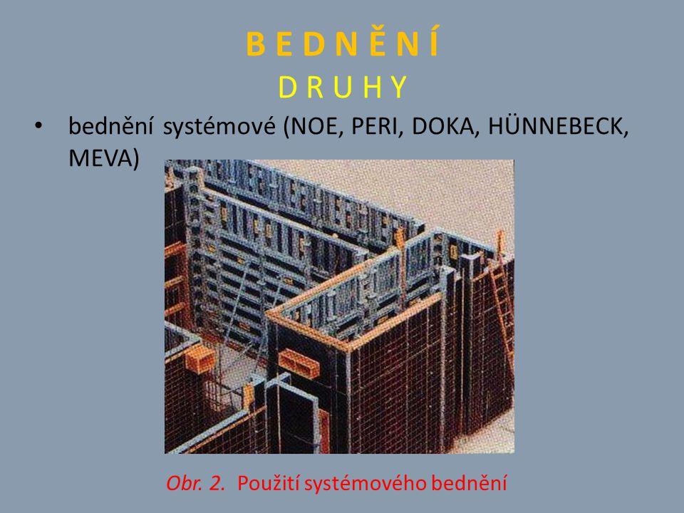 Obr. 2. Použití systémového bednění
