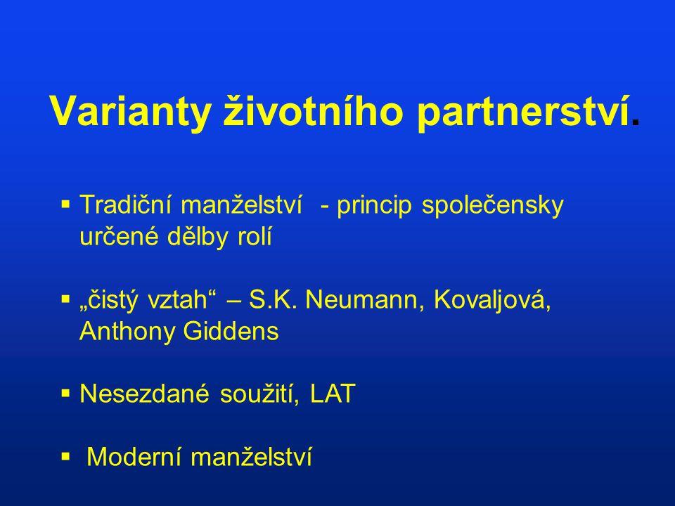 Varianty životního partnerství.