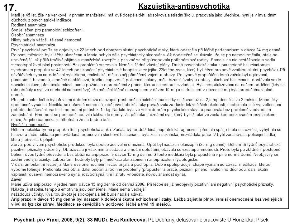 17. Kazuistika-antipsychotika