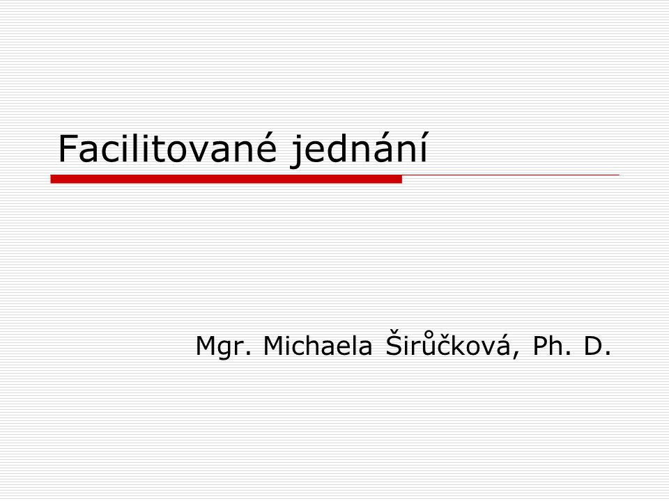 Mgr. Michaela Širůčková, Ph. D.