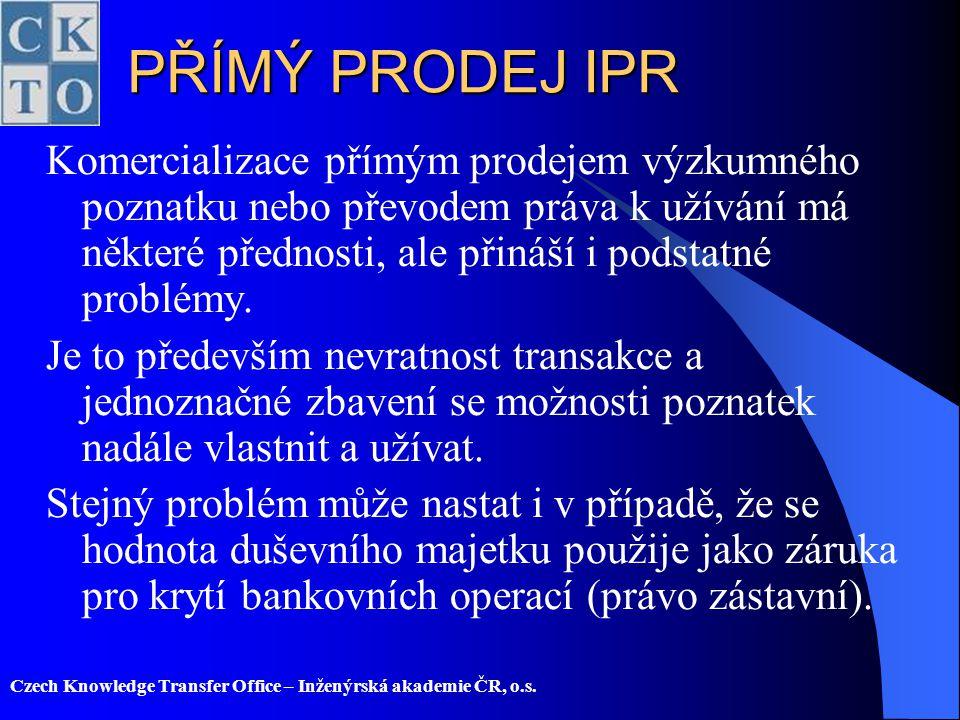 PŘÍMÝ PRODEJ IPR