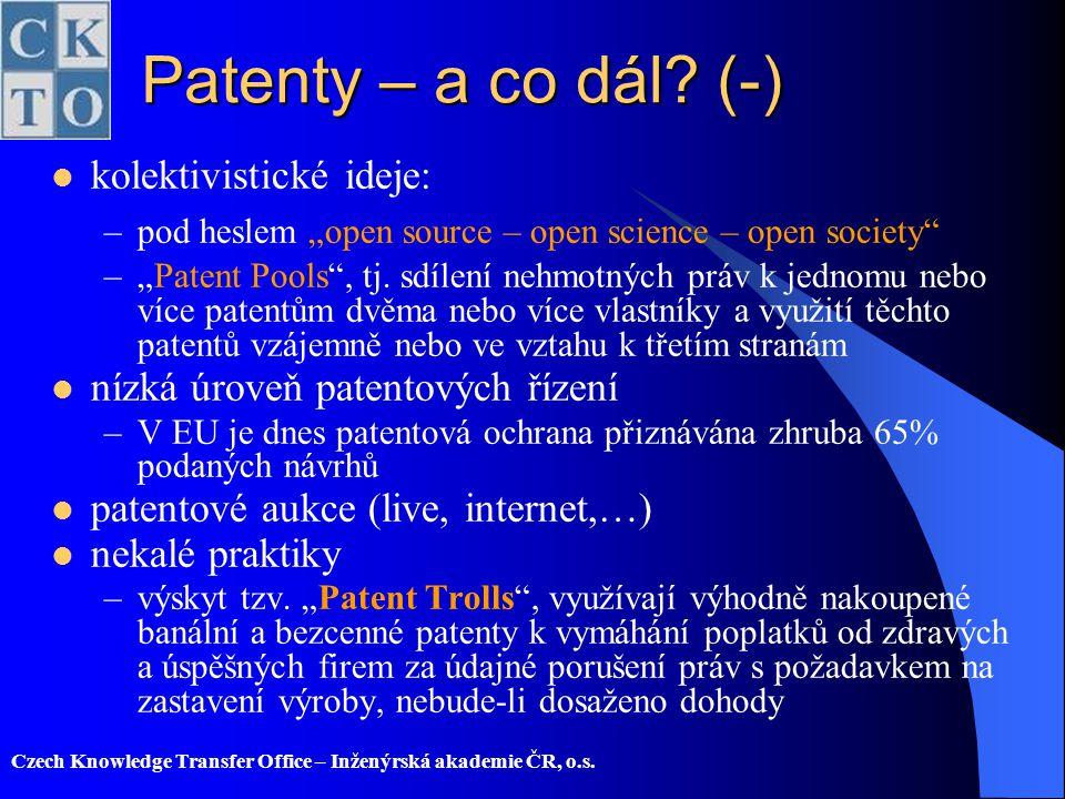 Patenty – a co dál (-) kolektivistické ideje:
