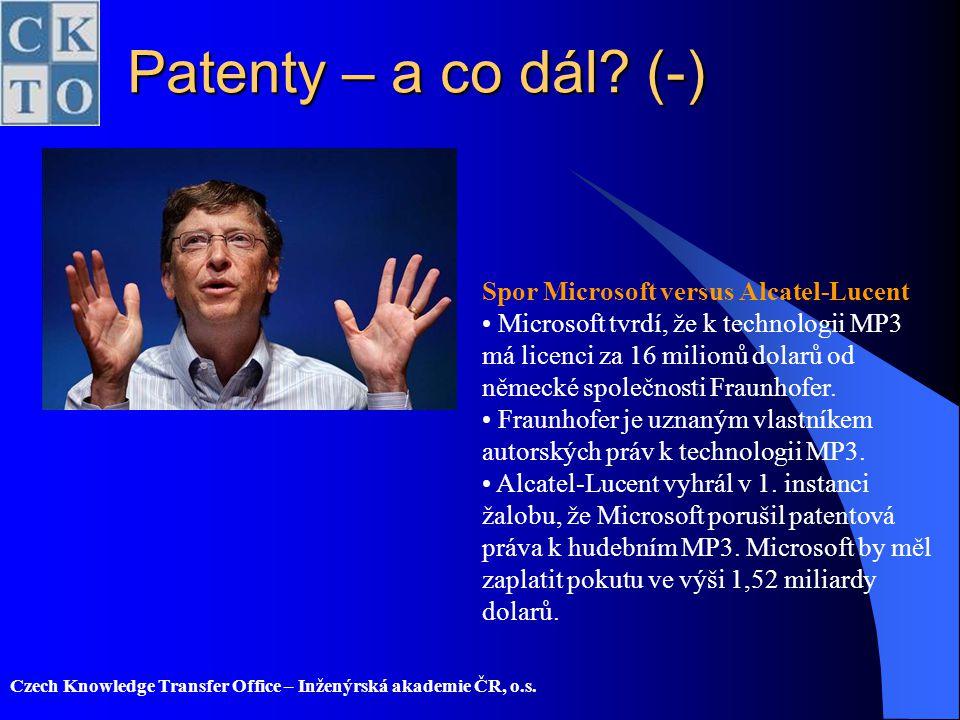 Patenty – a co dál (-) Spor Microsoft versus Alcatel-Lucent