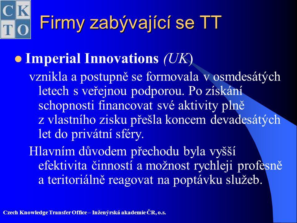 Firmy zabývající se TT Imperial Innovations (UK)