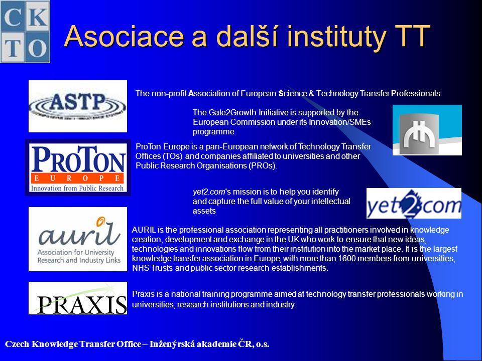 Asociace a další instituty TT