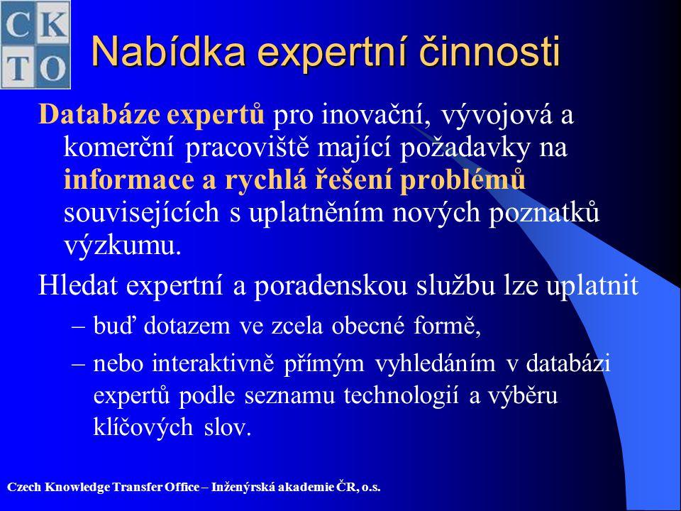 Nabídka expertní činnosti