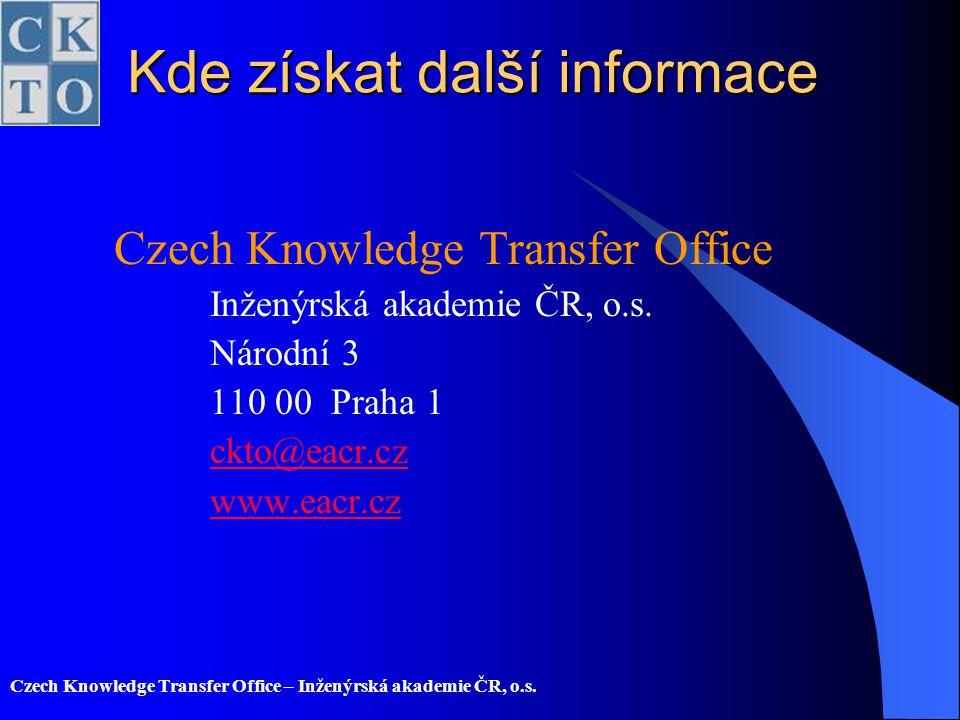 Kde získat další informace