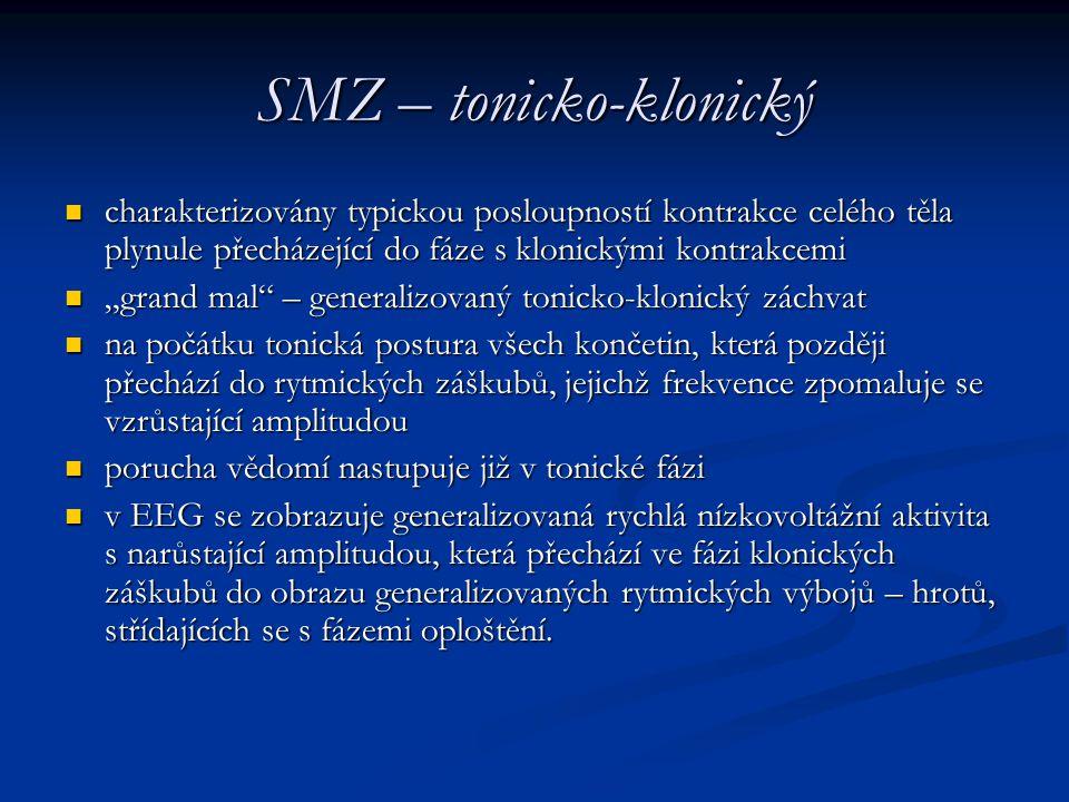 SMZ – tonicko-klonický