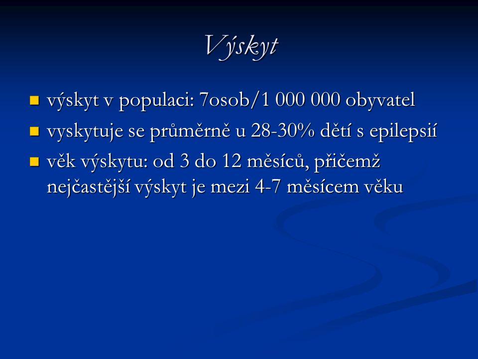 Výskyt výskyt v populaci: 7osob/1 000 000 obyvatel