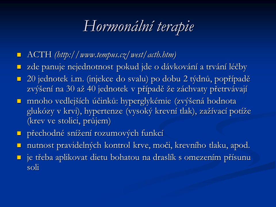 Hormonální terapie ACTH (http://www.tempus.cz/west/acth.htm)