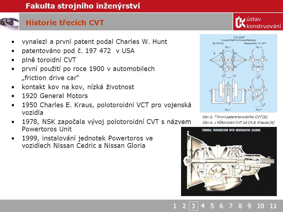 Historie třecích CVT vynalezl a první patent podal Charles W. Hunt