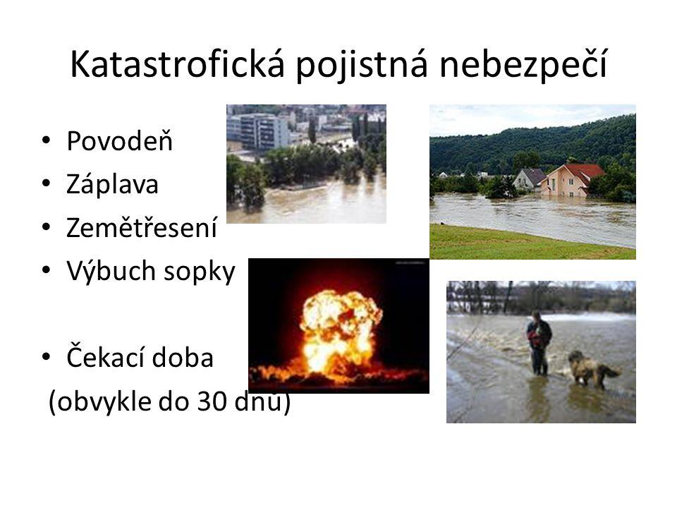 Katastrofická pojistná nebezpečí