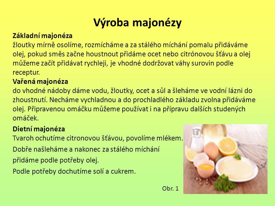 Výroba majonézy