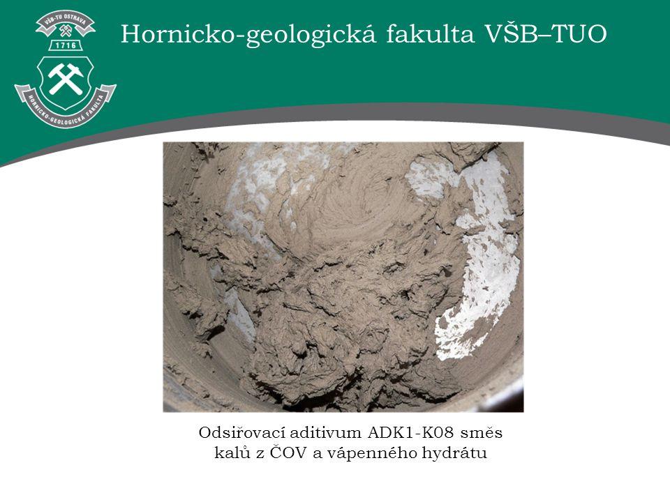 Odsiřovací aditivum ADK1-K08 směs kalů z ČOV a vápenného hydrátu
