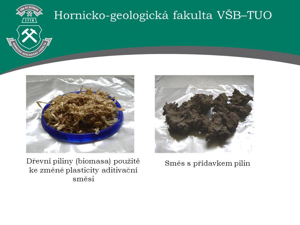 Dřevní piliny (biomasa) použité ke změně plasticity aditivační směsi