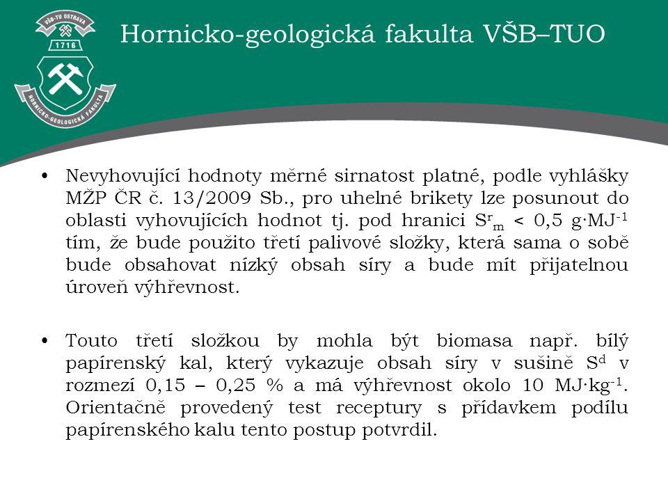 Nevyhovující hodnoty měrné sirnatost platné, podle vyhlášky MŽP ČR č