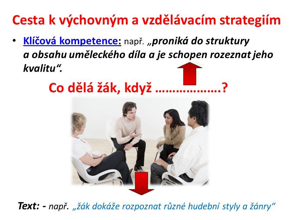 Cesta k výchovným a vzdělávacím strategiím