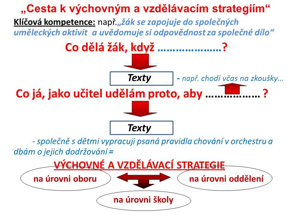 """""""Cesta k výchovným a vzdělávacím strategiím"""