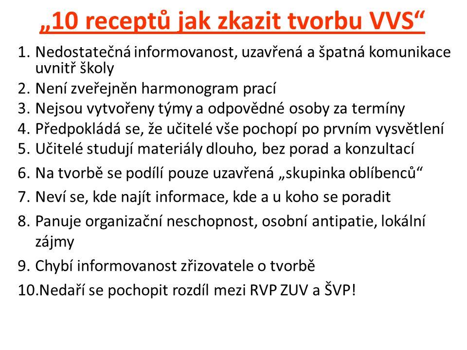 """""""10 receptů jak zkazit tvorbu VVS"""