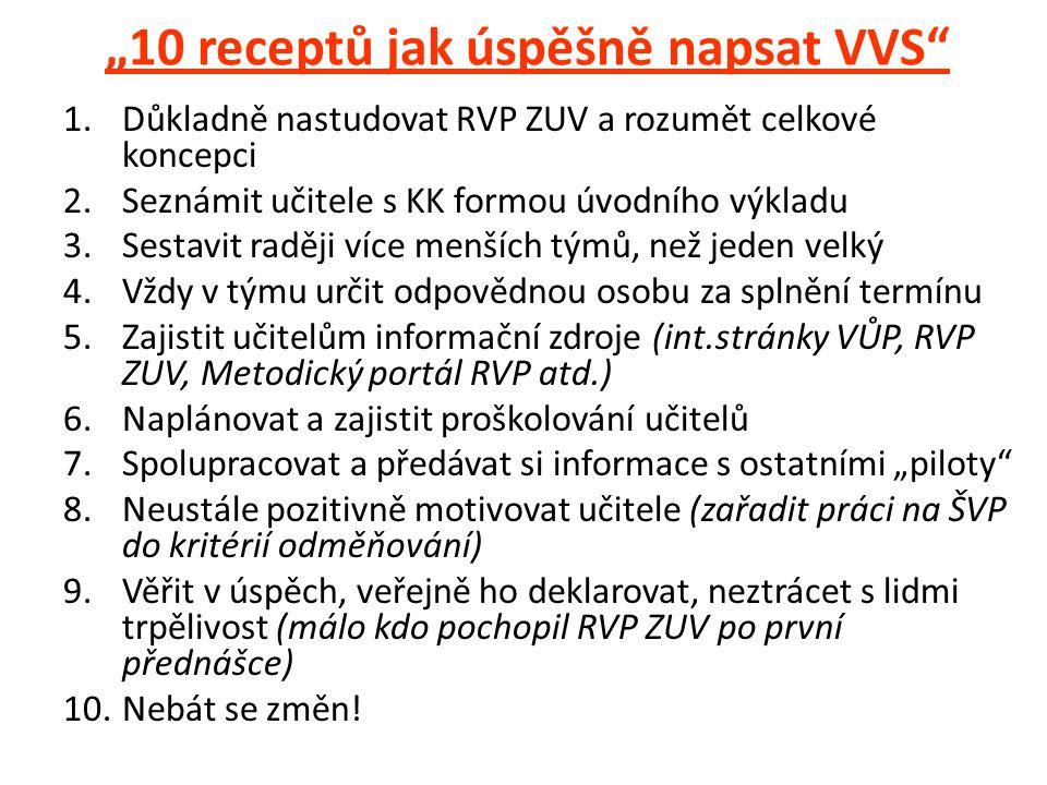 """10 receptů jak úspěšně napsat VVS"