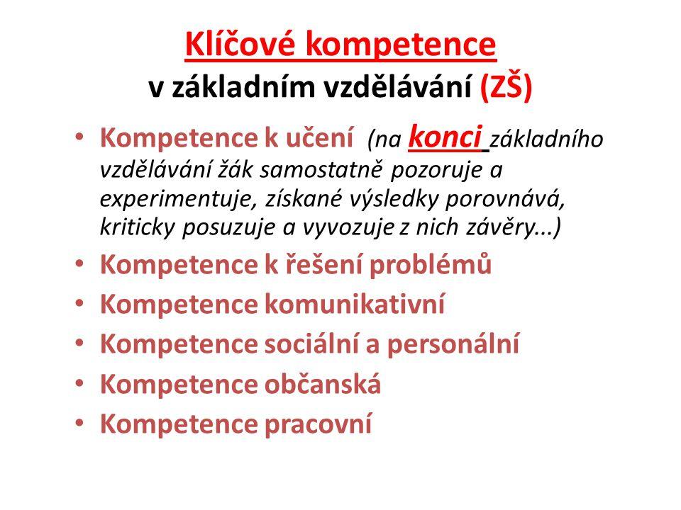 Klíčové kompetence v základním vzdělávání (ZŠ)