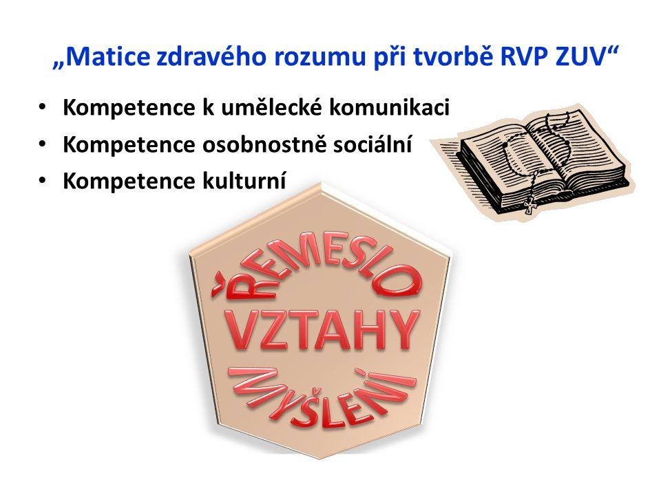 """""""Matice zdravého rozumu při tvorbě RVP ZUV"""