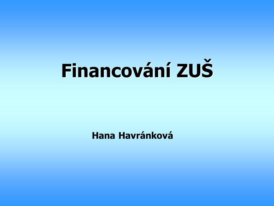 Financování ZUŠ Hana Havránková