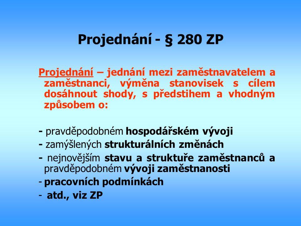 Projednání - § 280 ZP