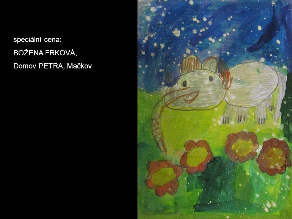 speciální cena: BOŽENA FRKOVÁ, Domov PETRA, Mačkov