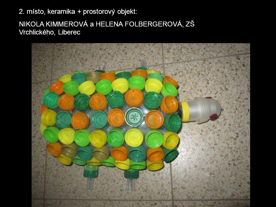 2. místo, keramika + prostorový objekt: