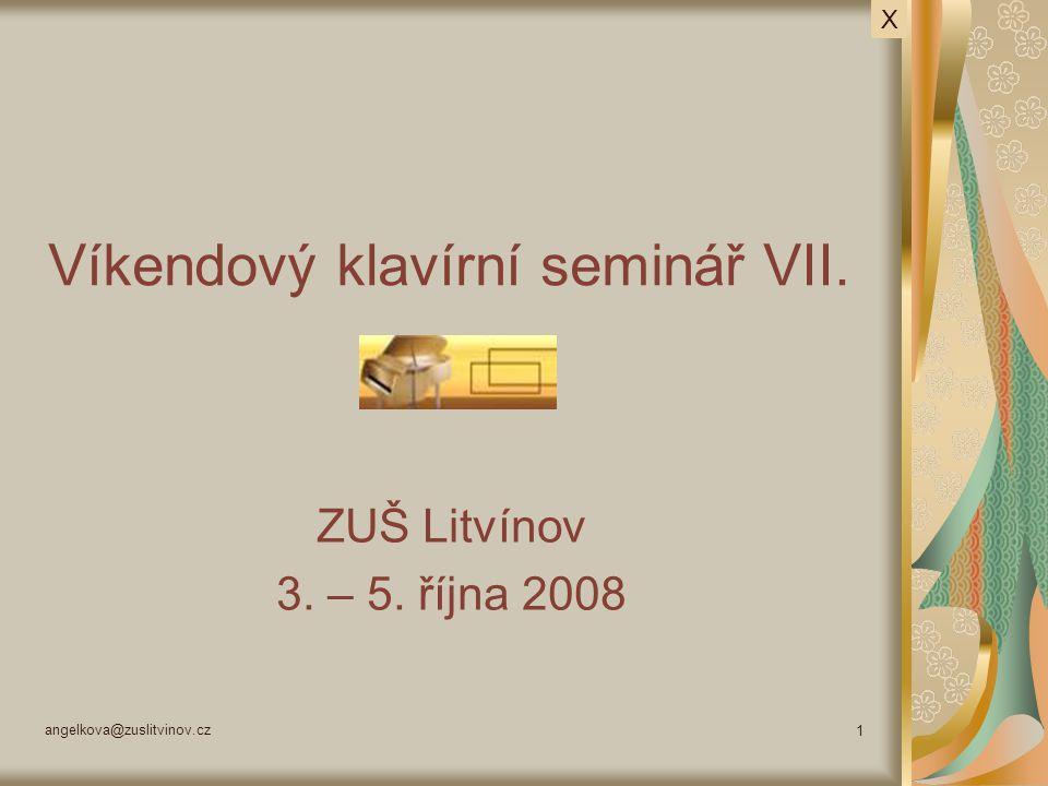 Víkendový klavírní seminář VII.
