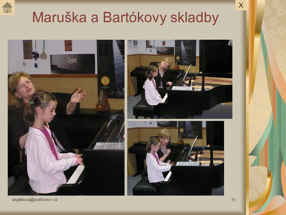 Maruška a Bartókovy skladby