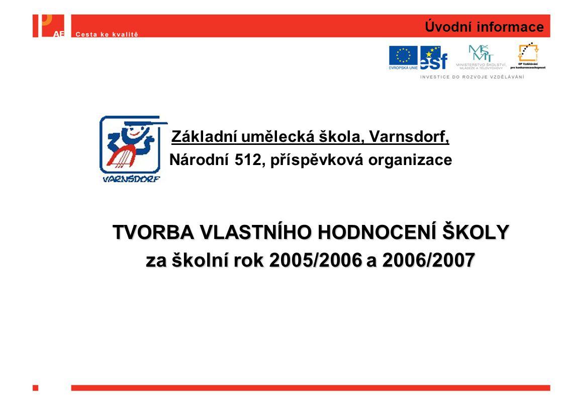 TVORBA VLASTNÍHO HODNOCENÍ ŠKOLY za školní rok 2005/2006 a 2006/2007