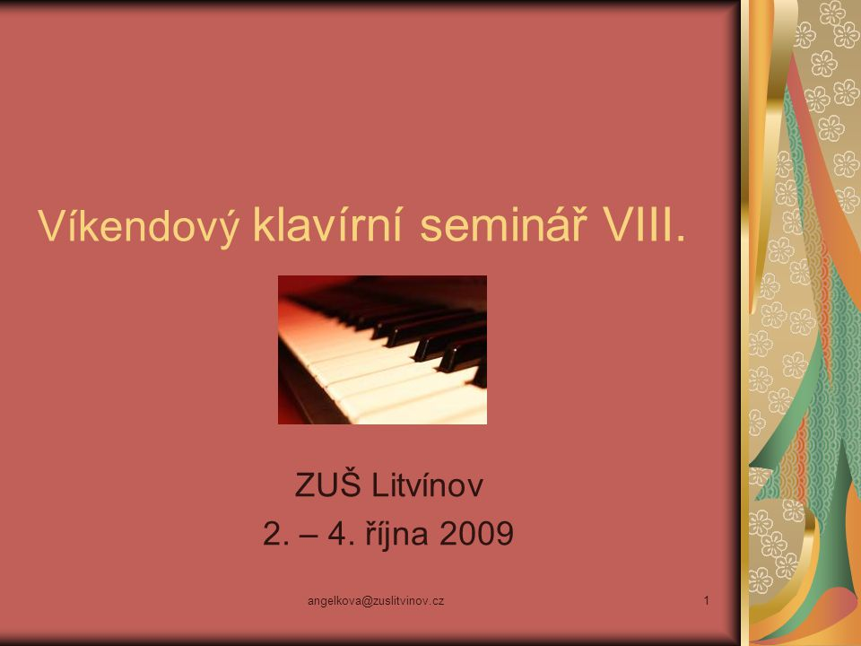 Víkendový klavírní seminář VIII.