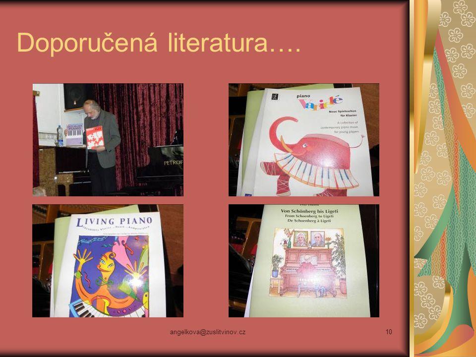 Doporučená literatura….