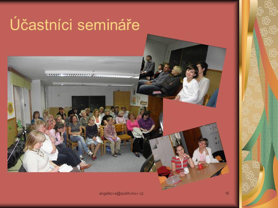Účastníci semináře angelkova@zuslitvinov.cz